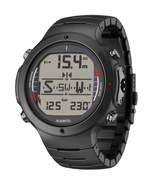 D6i All Black Steel + USB suunto