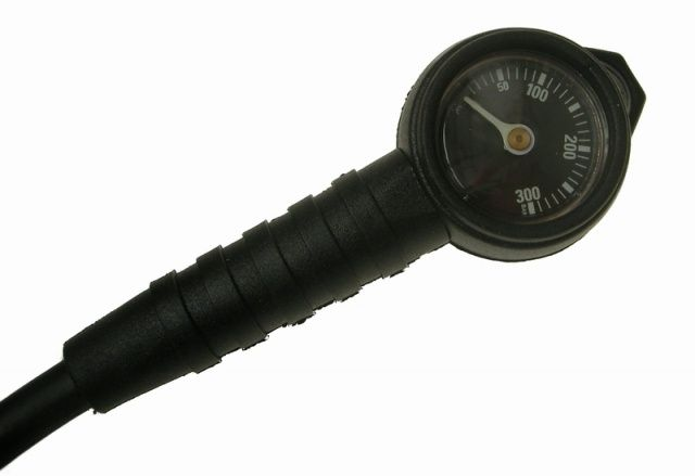 MINI SCUBA Military 300bar, tlakoměr černý. NTEC