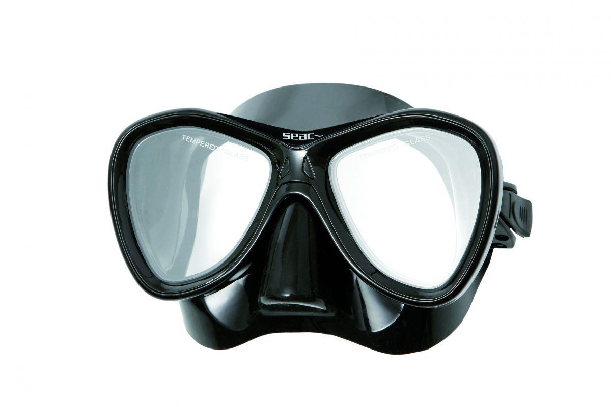 CAPRI dvouzorníková silikonová maska - čer.černá SEAC SUB