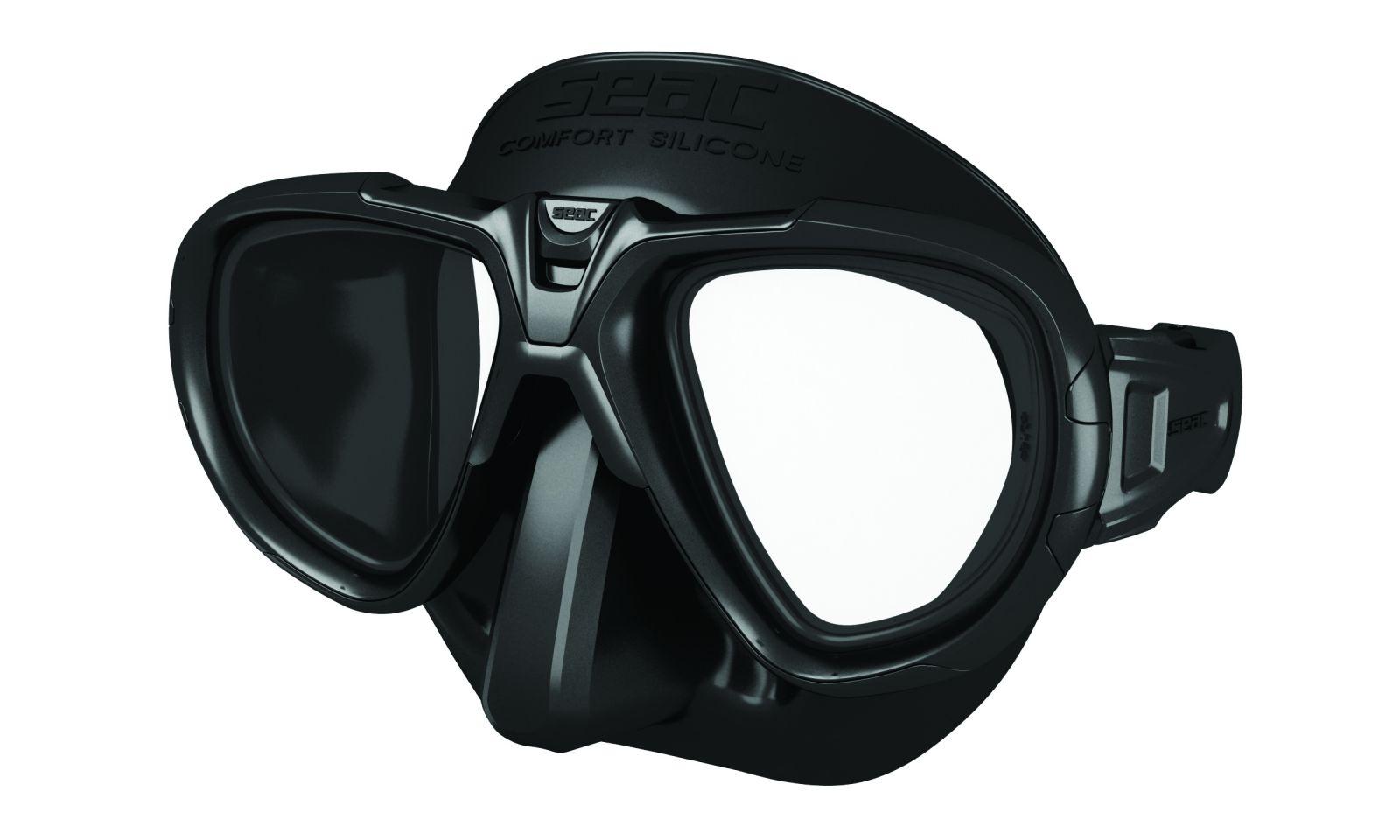 FOX silikonová maska s temperovanými skly - černá SEAC SUB