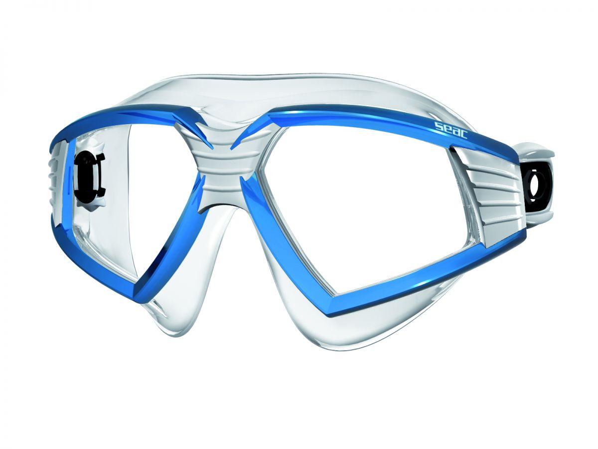 SONIC brýle na plavání čirý silikon - modrobílé SEAC SUB