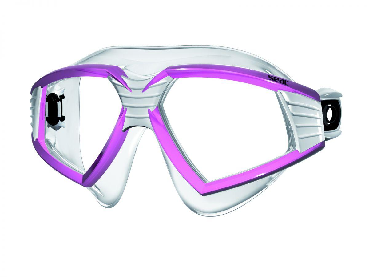 SONIC brýle na plavání čirý silikon - růžovobílé SEAC SUB