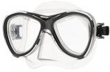 CAPRI dvouzorníková silikonová maska - tr.černá SEAC SUB
