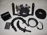 SADA Ikelite pouzdro + ramena + WD4 wide port + fotoaparát CANON G10