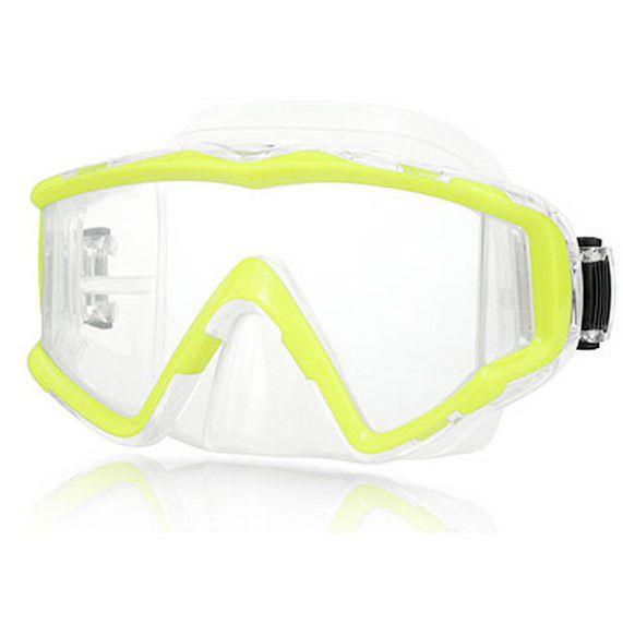 Panoramatická maska VISION s bočním výhledem - žlutá NTEC