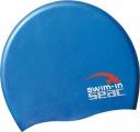 Plavecká čepice silikonová modrá/bílá - modrá SEAC SUB