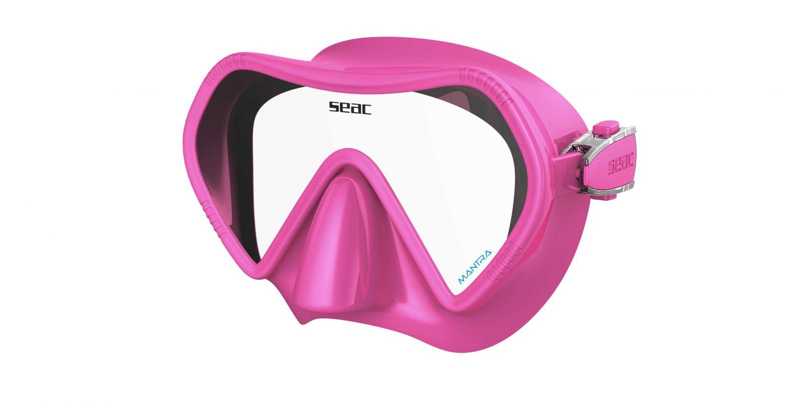 Skvěle padnoucí bezrámová silikonová maska MANTRA - růžová SEAC SUB