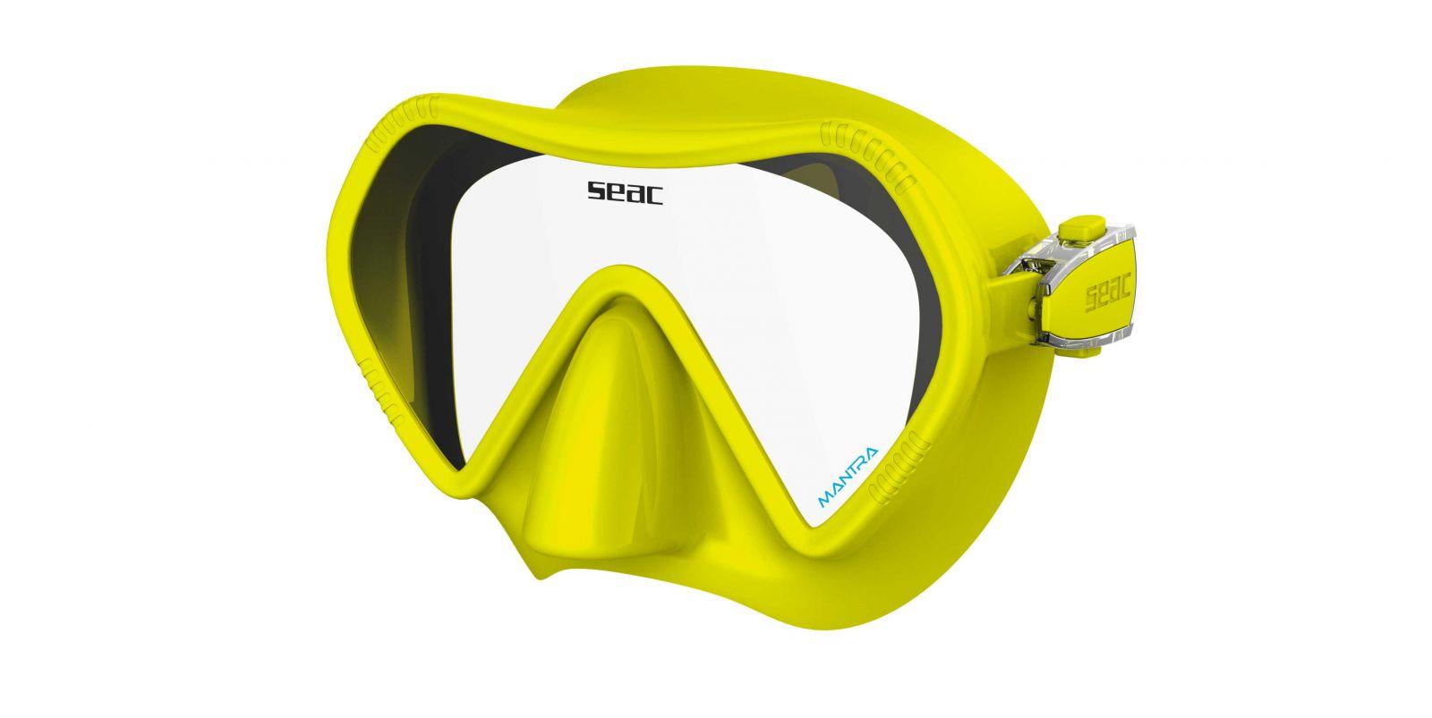 Skvěle padnoucí bezrámová silikonová maska MANTRA - žlutá SEAC SUB