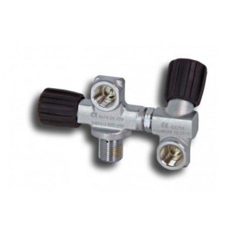 Ventil dvojitý M25x2 DIN kyslíkově čistý mdc
